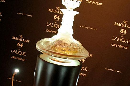 Macallan 64-year-old liqueur in Lalique - $ 460,000