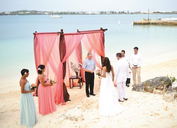 wedding in Bermuda
