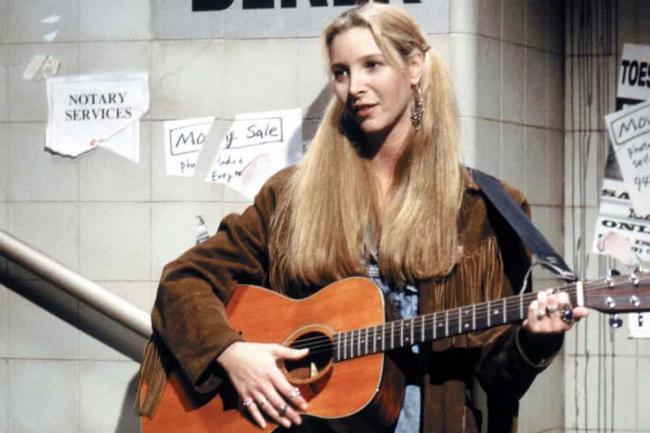 Lisa Kudrow with a guitar