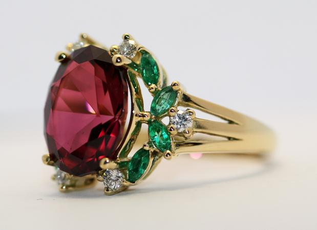 Rings with precious stones