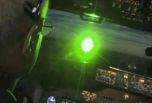 Не светите лазером в транспорт