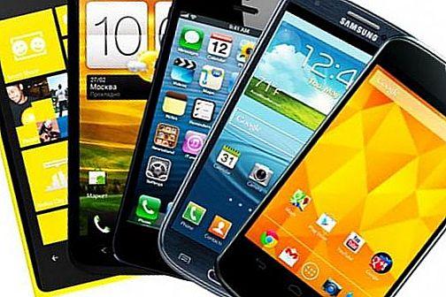 several smartphones