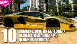 Самые дорогие бытовые вещи, сделанные из цельного золота