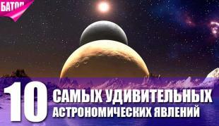 Топ-10 самых редких и удивительных астрономических явлений