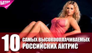 Самые высокооплачиваемые актрисы России
