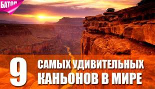 Самые удивительные каньоны в мире