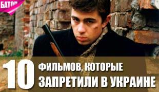 фильмы, запрещенные в украине