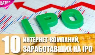 интернет-компании, заработавшие на IPO