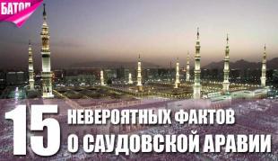 невероятные факты о саудовской аравии