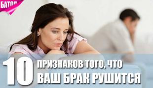 признаки того, что ваш брак рушится