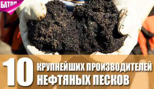 крупнейшие производители нефтяных песков