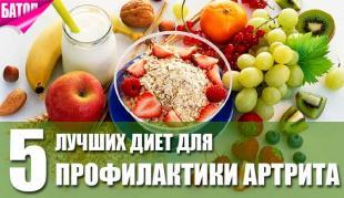лучшие диеты для профилактики артрита