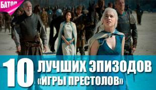 лучшие эпизоды игры престолов