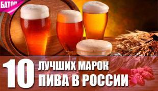 лучшие марки пива в России