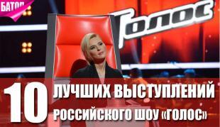 """лучшие выступления российского шоу """"Голос"""""""