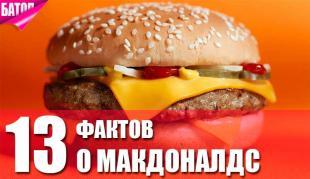 13 вещей, которые следует знать о Макдональдс