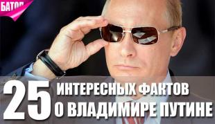 Факты о Владимире Путине