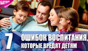 ошибки воспитания, которые вредят благополучию детей