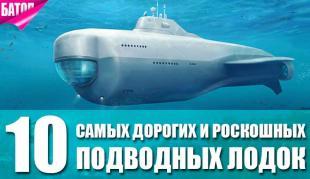 самые дорогие и роскошные подводные лодки