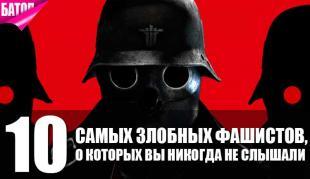 Десятка самых злобных фашистов, о которых вы никогда не слышали