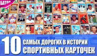 самые дорогие спортивные карточки в истории