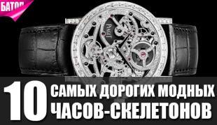 самые дорогие модные часы-скелетоны