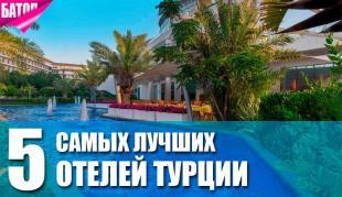 самые лучшие отели Турции
