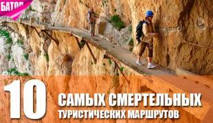самые смертельные туристические маршруты