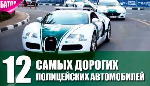 Самые дорогие полицейские автомобили в мире