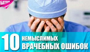 топ врачебных ошибок
