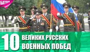 великие русские военные победы