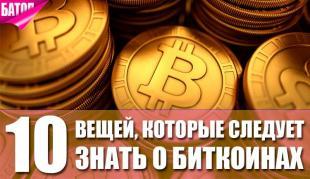 вещи, которые следует знать о биткоинах