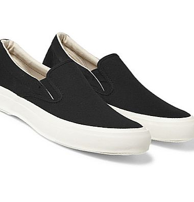 BEAMS + MoonStar Suede and Canvas Slip-On Sneakers