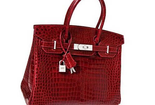 The Exceptional Collection Rouge H Porosus Crocodile Handbag