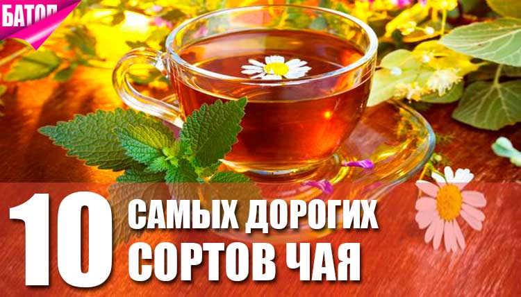 самые дорогие чаи