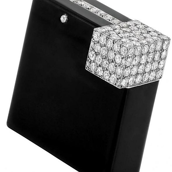 Зажигалка Cartier «Black Enamel and Diamond»