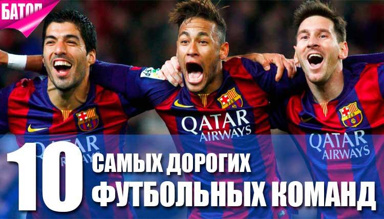 самые высокооплачиваемые футбольные команды в мире