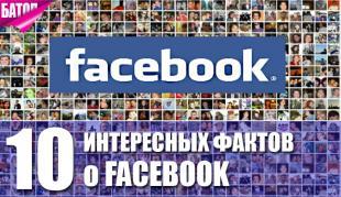 Интересные факты о Facebook