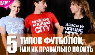Типы футболок