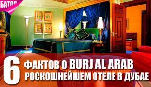 Burj Al Arab - роскошнейший отель в Дубае