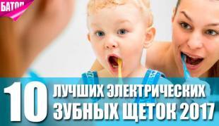 Электрические зубные щетки 2017
