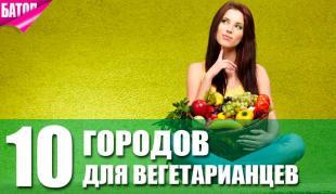 Города для путешественников-вегетарианцев