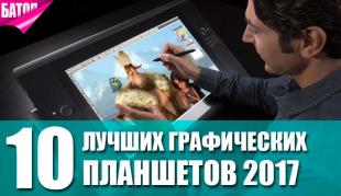 Лучшие графические планшеты