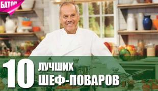 ТОП-10 лучших шеф-поваров мира