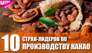 Страны, лидирующие в производстве какао
