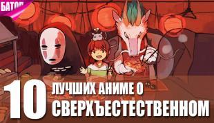 лучшие сверхестественные аниме
