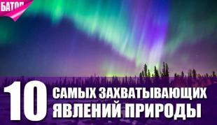 Топ-10 явлений природы, от которых захватывает дух