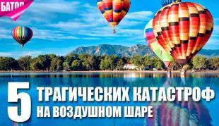 5 трагических катастроф на воздушном шаре