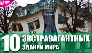 экстравагантные здания мира