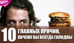 главные причины почему вы всегда голодны